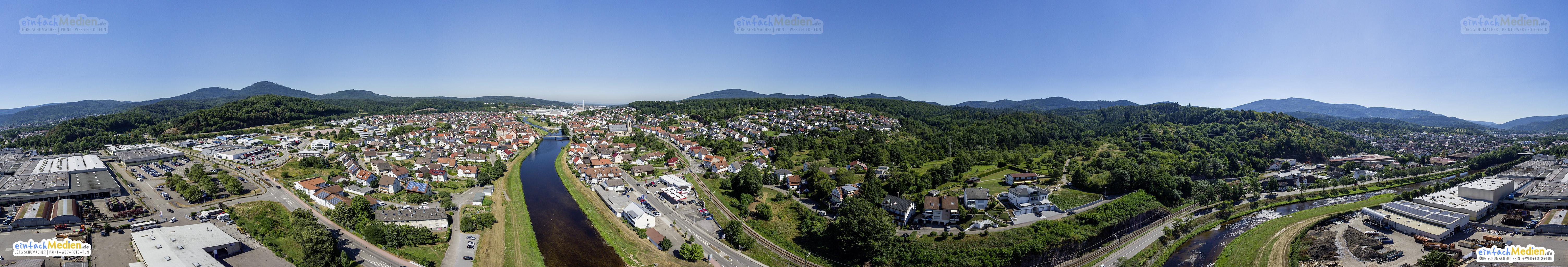 Gaggenau Ottenau - Höhe Bengali - 360°-Luftbild-Panorama
