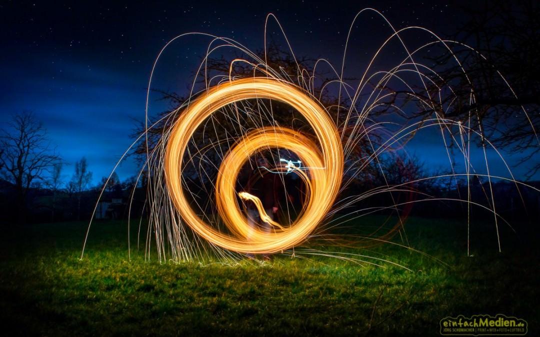 Stahlwolle-Fotografie
